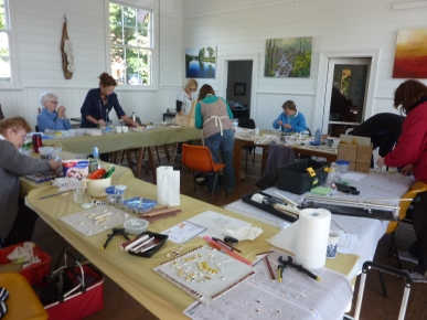 mosaic workshop at TRAK