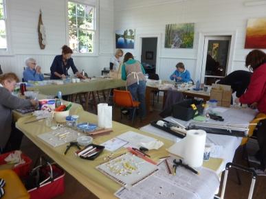 mosaic workshop at TRAK